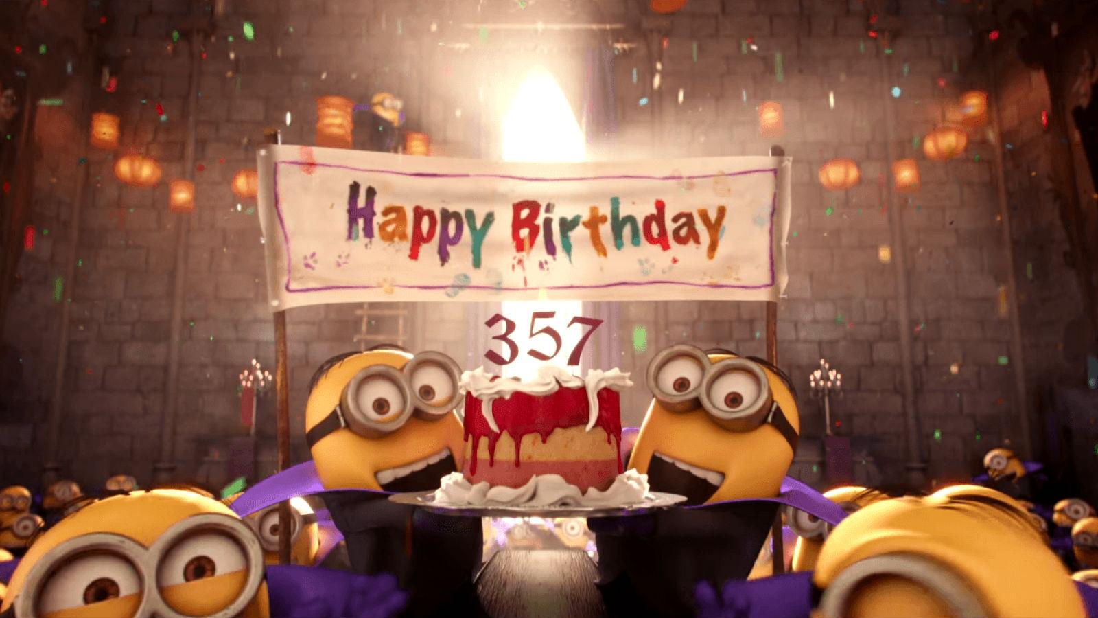 Resultado de imagem para minions birthday gif