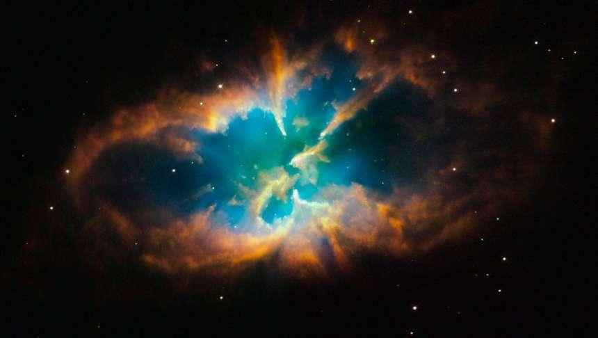 Nebula Inside Star Cluster