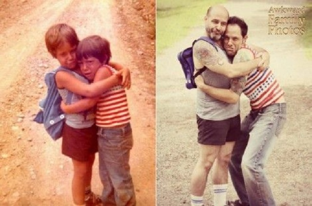 family-now-then-photos