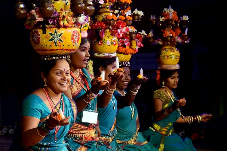 Dancers from Telangana