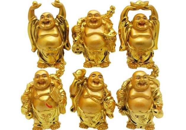 Different types of Laughing Buddha