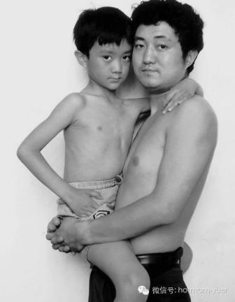 Tian Jun with his son in 1993