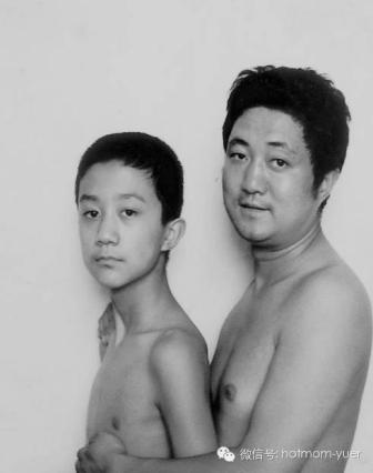 Tian Jun with his son in 1997