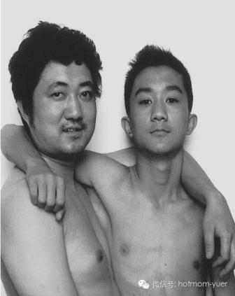 Tian Jun with his son in 1999