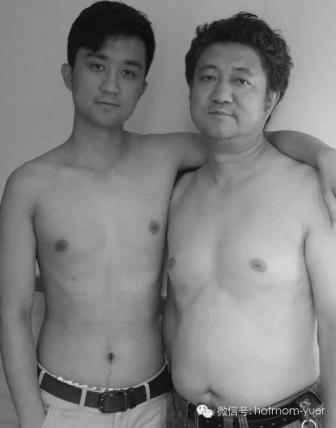 Tian Jun with his son in 2010