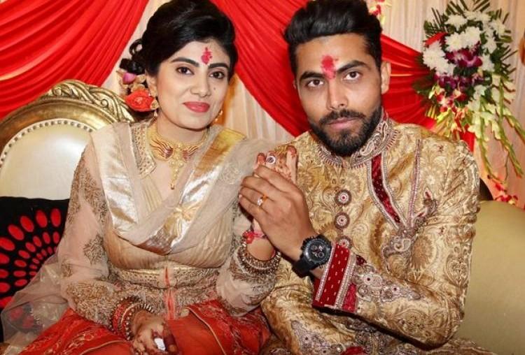Ravindra Jadeja and Reeva Solanki