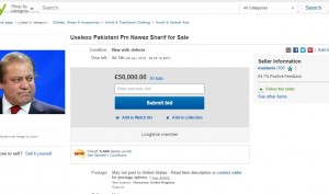 Hilarious: Someone Put Pak PM Nawaz Sharif On eBay For Rs 62 Lakhs, You Can Bid Too