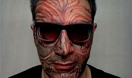 Face is the Canvas: Tehran artist paints his own face for Instagram project & it's going viral