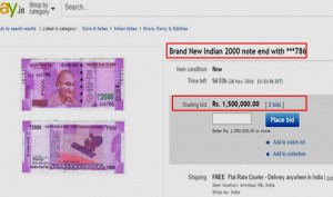 Newly Issued 2000-Rupee Notes Being Sold Online At Rs1.5 Lakh. WTF!