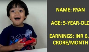 This 5-Year-Old Kid Earns Rs 6.5 crores A Month. Wanna Know What He Does??