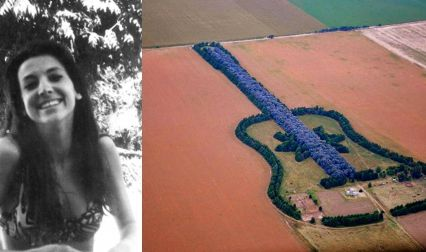 After Death Of His Wife, This Man Planted Guitar-Shaped Forest So That She Could See It From Heaven