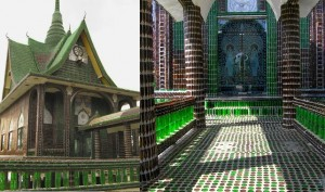 This Temple In Thailand Is Built Using 1.5 Million Beer Bottles!