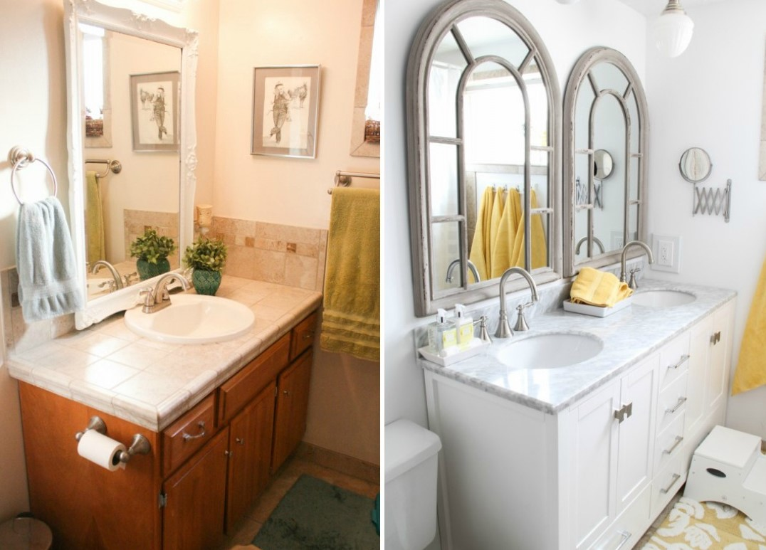 double sink vs single sink bathroom vanities. Black Bedroom Furniture Sets. Home Design Ideas