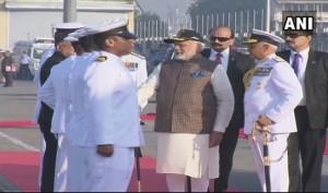 LIVE: PM Modi dedicates India's first Scorpene-class submarine INS Kalvari to the nation