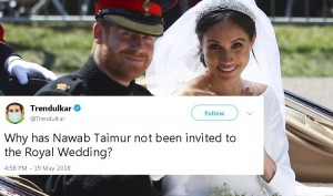 10 Hilarious Tweets about the Royal Wedding that only Indians can make