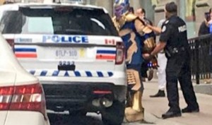 Villain Thanos from Avengers: Infinity War gets arrested by Police, Twitterati makes fun
