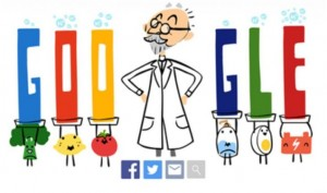 Google celebrates Danish Biochemist SPL Sorensen for creating pH scale with a Doodle