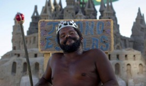 Brazilian Man called 'The King' saves house-rent by living in a sand castle for 22 years