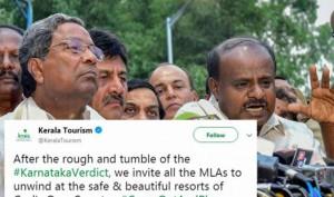 Kerala Tourism invites Karnataka Lawmakers to #ComeOutAndPlay, Deletes Tweet later
