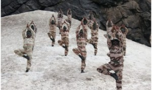 ITBP Jawans perform Surya Namaskar at 18000ft in Ladakh on International Yoga Day 2018
