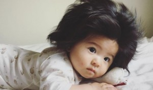 7-month-old Japanese baby Chanco's hair take internet by storm
