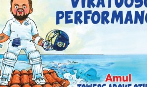 India vs England: Amul girl celebrates Virat Kohli's terrific hundred with a poster