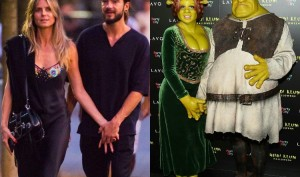 Heidi Klum and boyfriend Tom Kaulitz rules over Halloween 2018 bash dress as Princess Fiona and Shrek